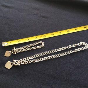 Heart necklace/bracelet set